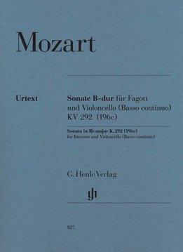 Henle Verlag Mozart | Sonate in Bes KV 292 (196c) voor fagot en cello (Basso continuo)