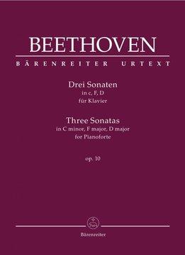 Bärenreiter Beethoven   3 pianosonates in c klein, f klein en D op. 10