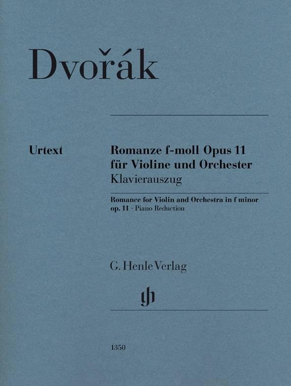 Henle Verlag Dvorák | Romance in f klein op. 11 voor viool en orkest | Piano-uittreksel