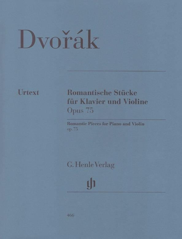 Henle Verlag Dvorák | Romantische stukken op. 75 voor piano en viool