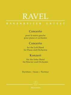 Bärenreiter Ravel   Pianoconcert voor de linkerhand   Partituur