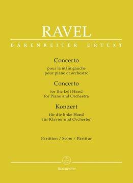 Bärenreiter Ravel | Pianoconcert voor de linkerhand | Partituur