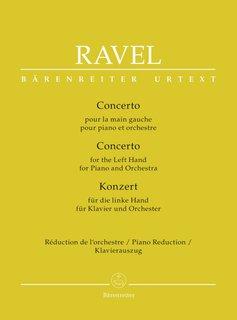Bärenreiter Ravel   Pianoconcert voor de linkerhand   Piano-uittreksel