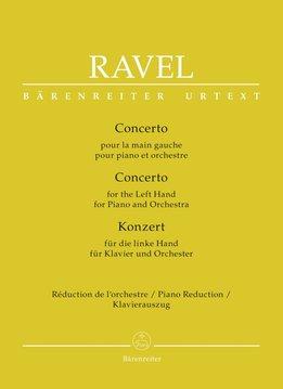 Bärenreiter Ravel | Pianoconcert voor de linkerhand | Piano-uittreksel