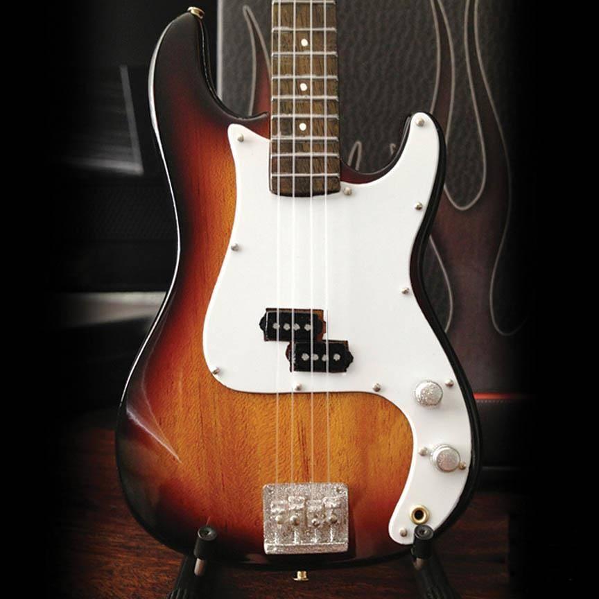 Axe Heaven Axe Heaven Miniatuur gitaar | Fender Precision Bass | Sunburst Finish