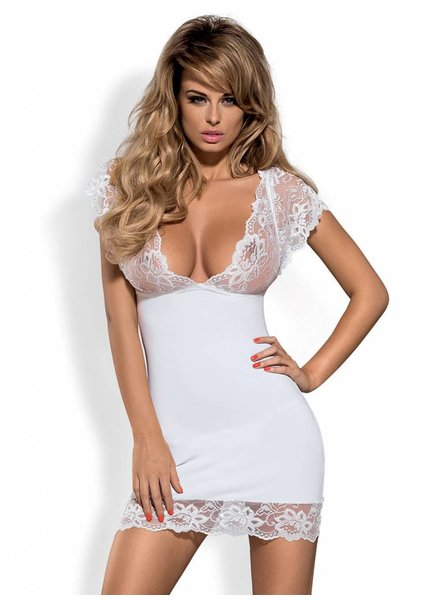OBSESSIVE Imperia Chemise mit String Weiss