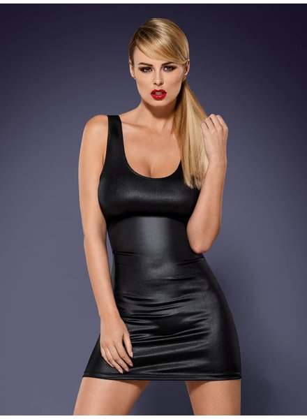 OBSESSIVE Obsydian Kleid mit String Schwarz