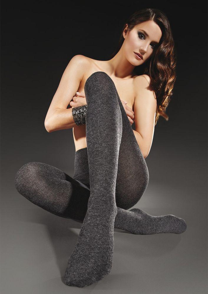 Image of 611 Damen Luxus Cashmere Strumpfhose Creme