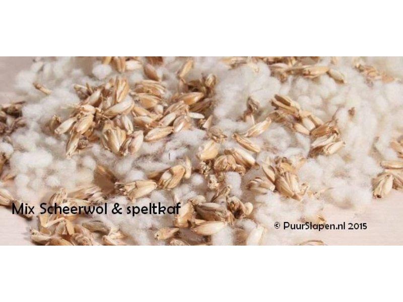 Mudis Mudis® natuurkussenvullingen, in een inlet (40x40) en diverse biologische ingrediënten.