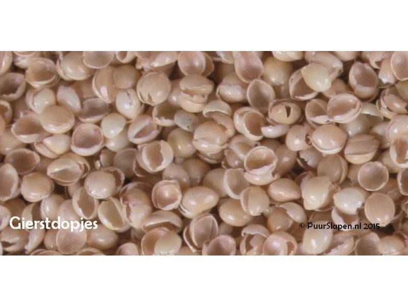 Mudis Mudis® hoofdkussen met een milletdopjesvulling. Afmetingen 40x60 en 40x80.