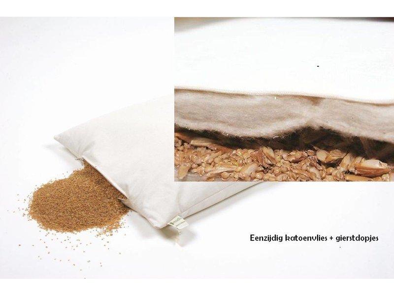 Mudis Mudis® eenzijdig katoenvlies lees- & steunkussen, verkrijgbaar met diverse kussenvullingen. Afmetingen 40x60.