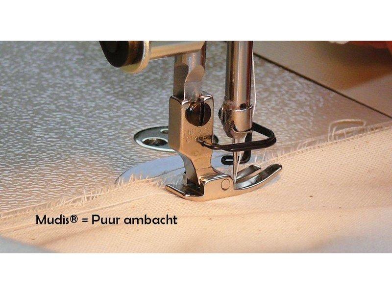Mudis Mudis® kussensloop 40x40, Bio katoen satijn-gestreept.