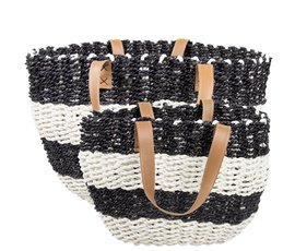 Bastion Collection Beachbag black and white