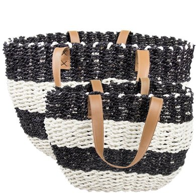 Bastion Collection Bastion Collections beach bag black white