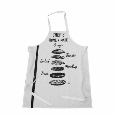 Bastion Collection Kitchen apron in black and white