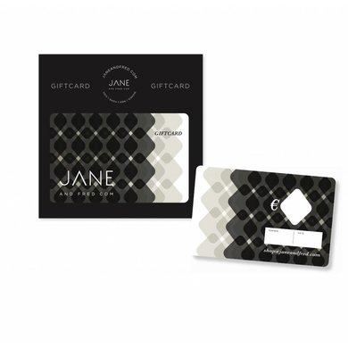 Jane and Fred.com Giftcards verzenden wij gratis