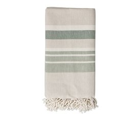 Bloomingville Bloomingville hammam towel beige green