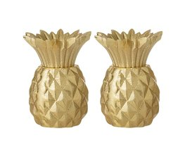 Bloomingville Bloomingville pepper and salt set gold Pineapple