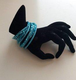 Studs wikkkel armband blauw