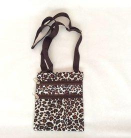 Nekportefeuille tijgerprint zwart/bruin