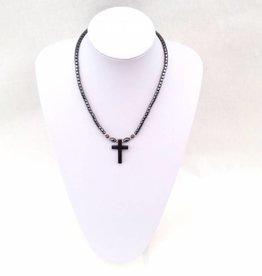 Hematiet ketting kruis