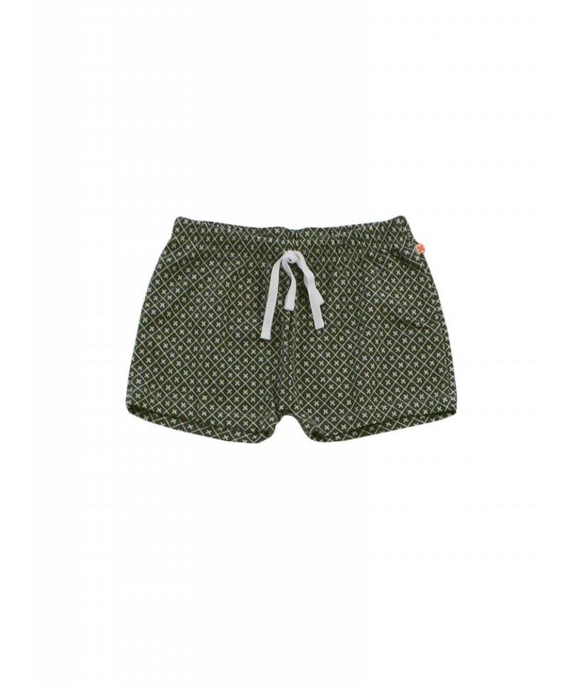Tiny Cottons Monogram Shorts - Dark Green