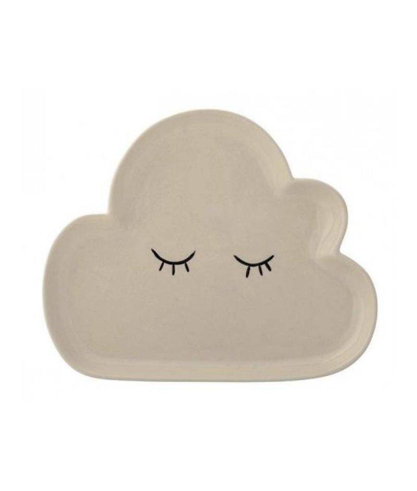 Bloomingville Cloud Plate - White