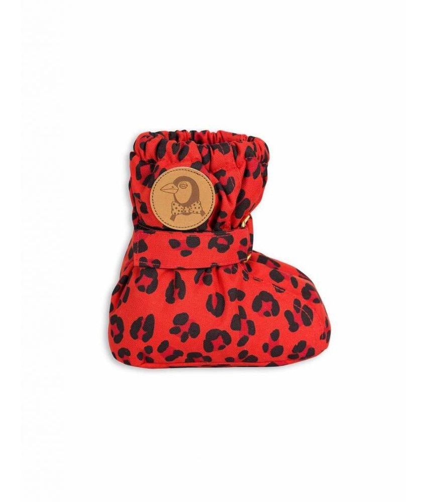 Mini Rodini ALASKA LEOPARD BOOT – RED