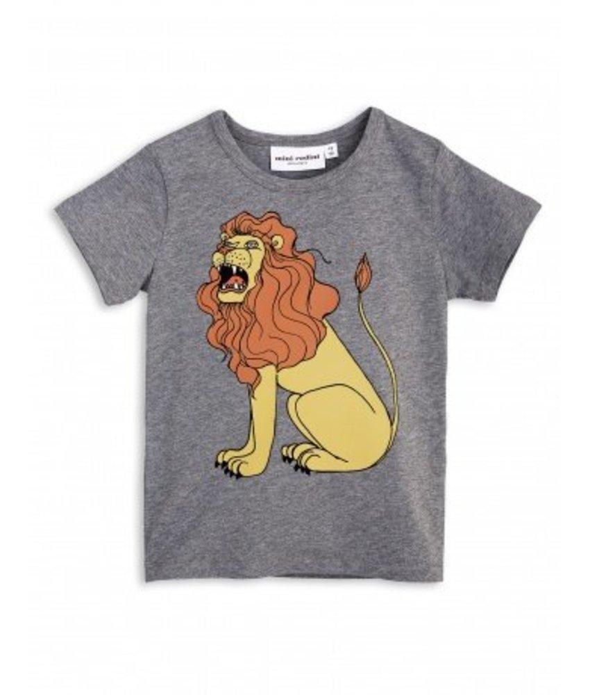 Mini Rodini Lion SP SS Tee - Grey