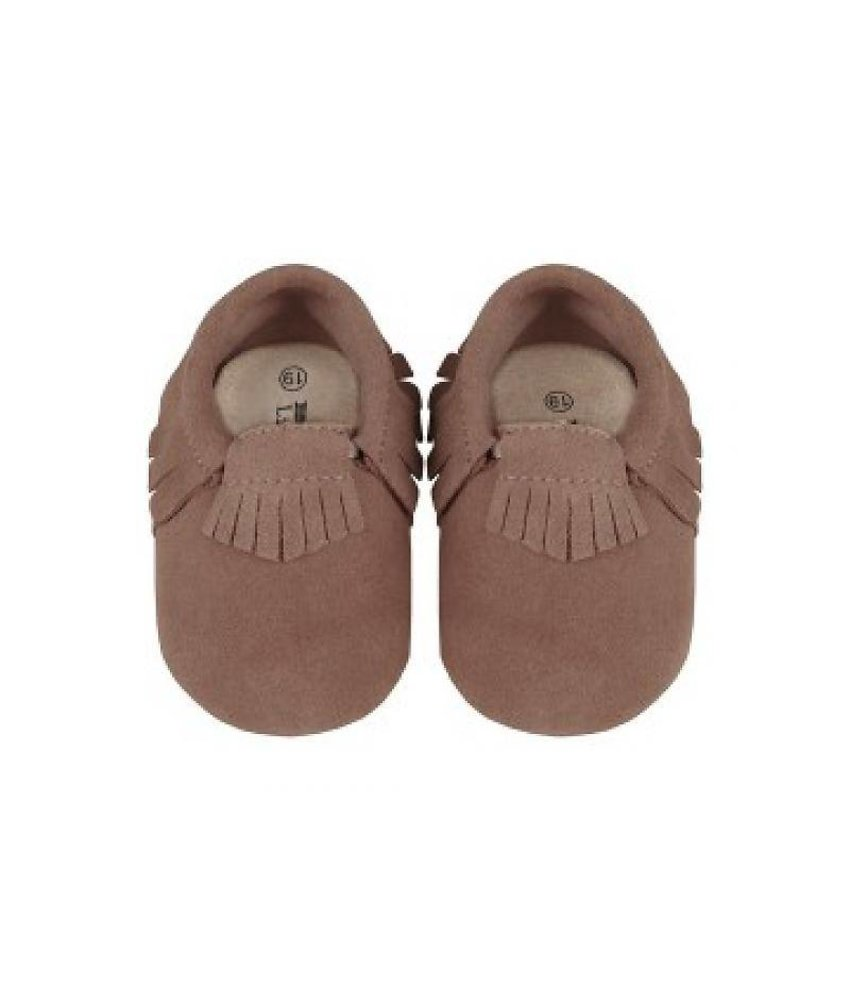 Little Indians Indian Feet - Leather Brown Suede