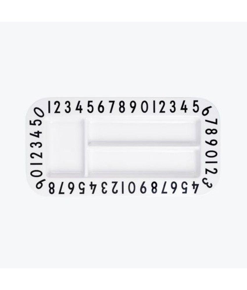 Designletters Melamine Rectangular Plate - 123