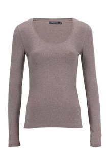 Moscow U-Neck Long Sleeve - Taupe