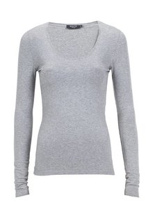 Moscow U-Neck Long Sleeve - Grey