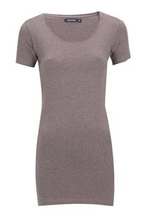Moscow U-Neck Short Sleeve Long - Taupe