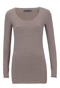 Moscow U-Neck Long Sleeve Long - Taupe