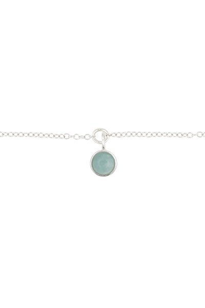 All The Luck In The World Bracelet  Amazonite - Silver
