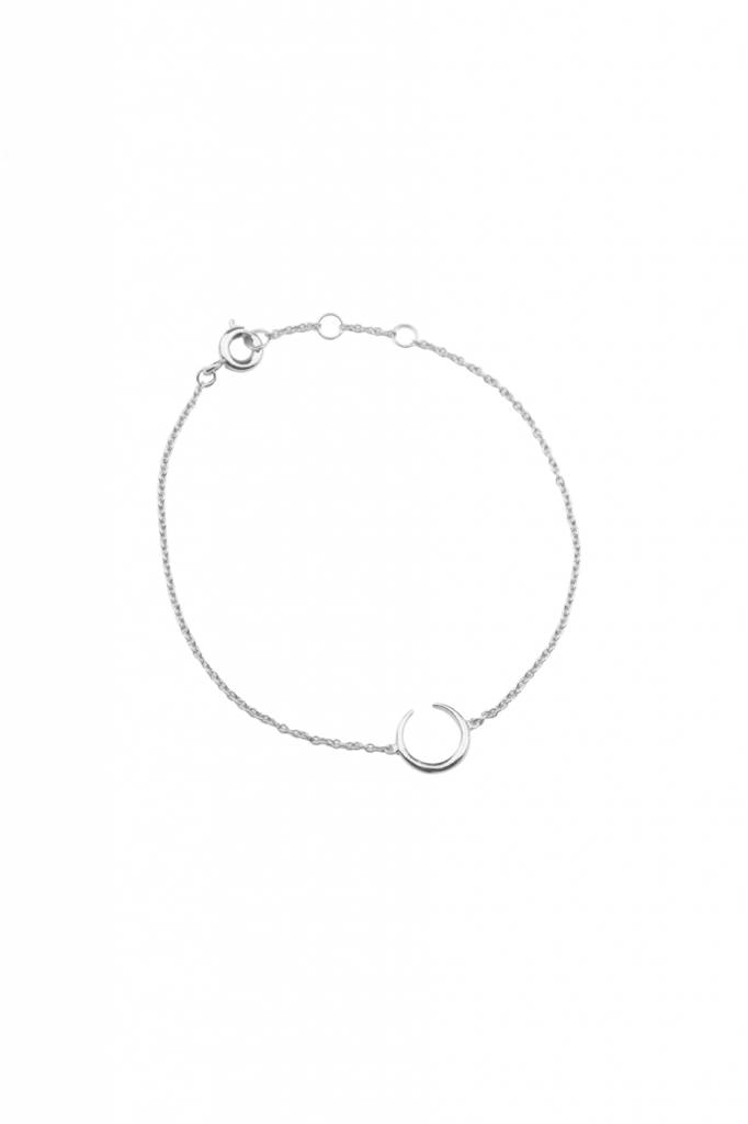 All The Luck In The World Bracelet Horn - Silver