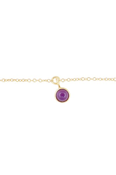 All The Luck In The World Bracelet Amethyst - Gold