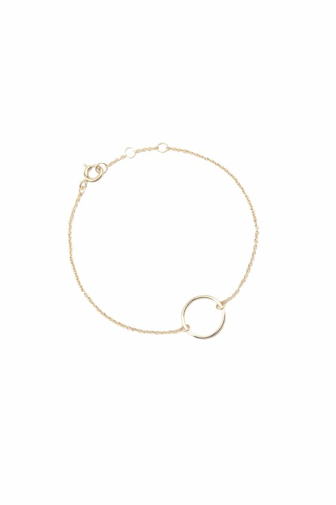 All The Luck In The World Bracelet Circle - Gold