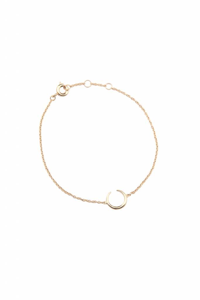 All The Luck In The World Bracelet Horn - Gold