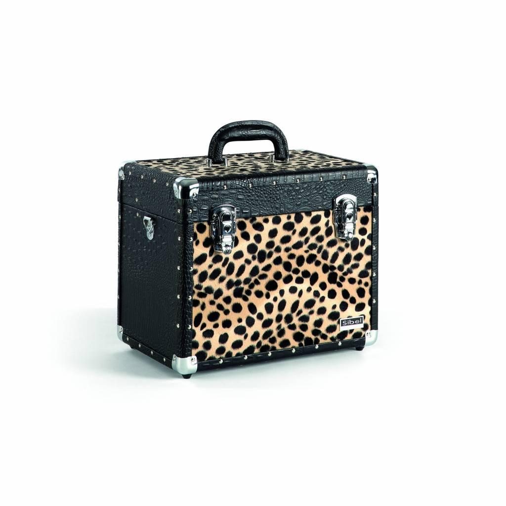 Sibel Sibel Vanity case Croco Leopard Zwart