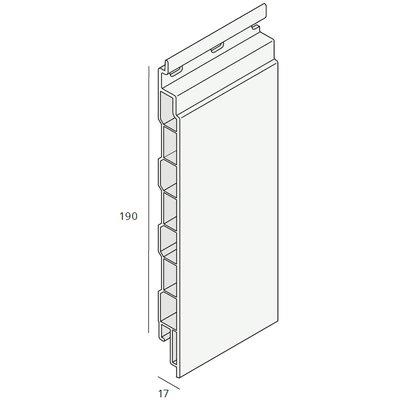 Keralit® Sponningdeel 190 mm paneel (1 x 600 cm)