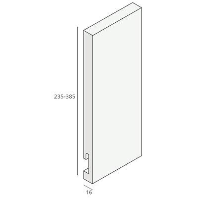Unipanel® 285 mm paneel met sponning (1 x 580 cm)