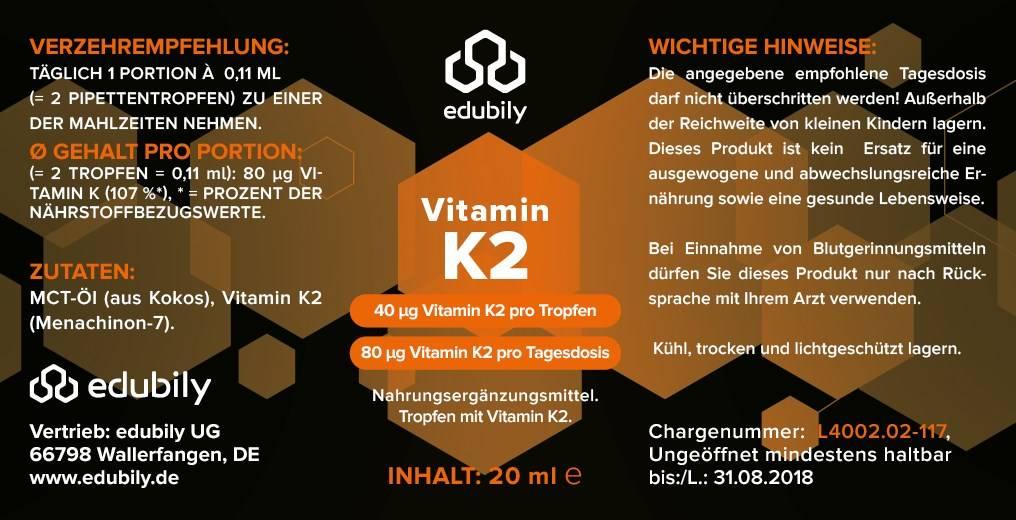 edubily Vitamin K2 Tropfen