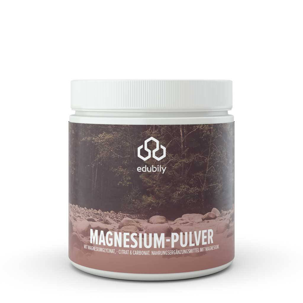 edubily Magnesium-Pulver mit Vitamin B6 300 g - 315 Portionen a 125 mg Magnesium