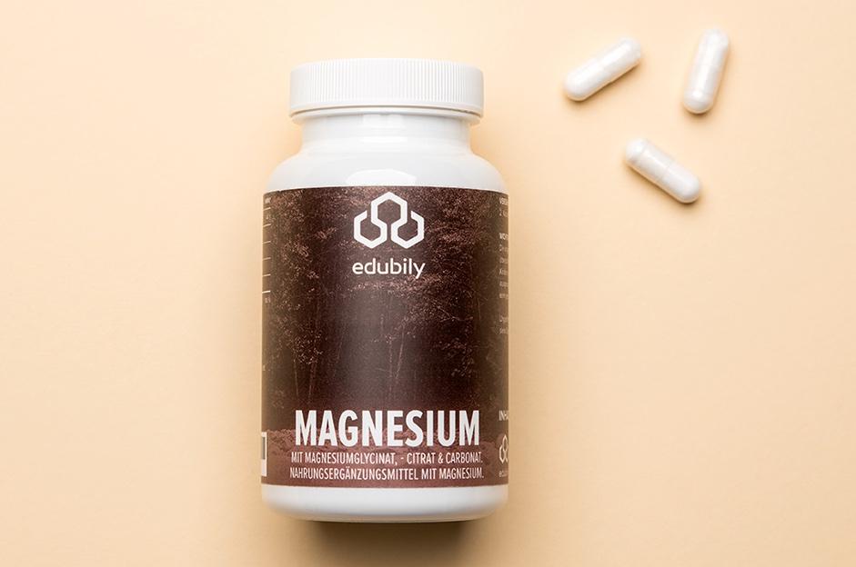 Magnesium Kapseln mit Magnesiumgylcinat und Vitamin B6