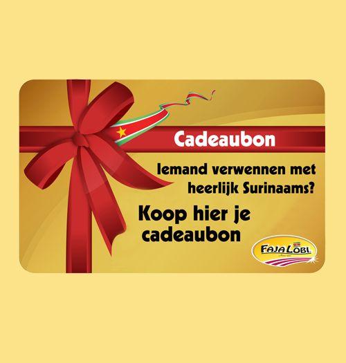 Surinaamseten Cadeaubon