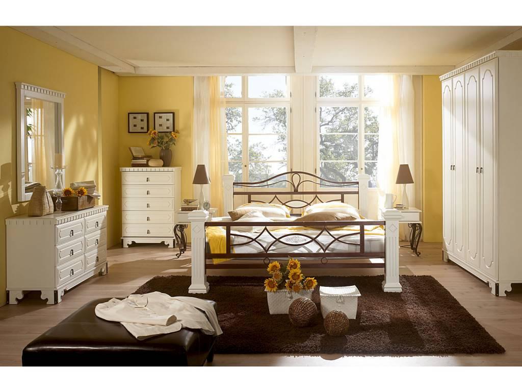 landhaus massiv holz bett 140 160 180 doppelbett plus lattenrost wei massivholzm bel bei. Black Bedroom Furniture Sets. Home Design Ideas