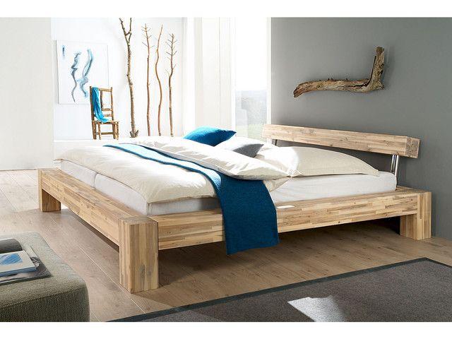 doppel bett massiv holz akazie massivholzm bel bei. Black Bedroom Furniture Sets. Home Design Ideas