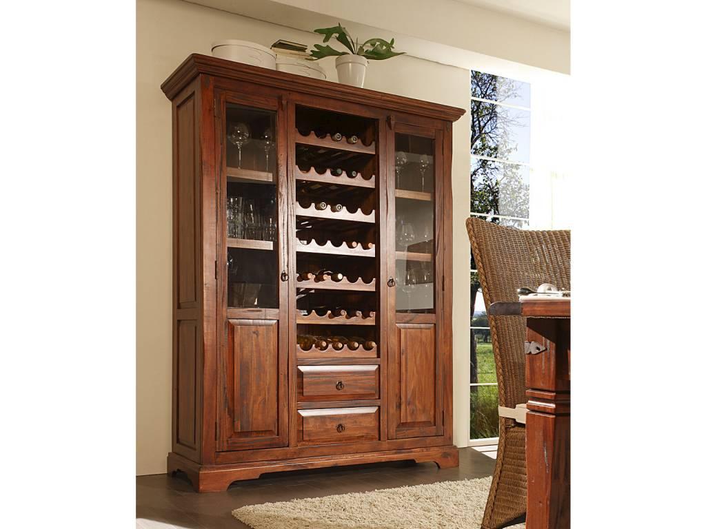 Wein Buffet massiv Holz Schrank Pinie im Landhausstil ...
